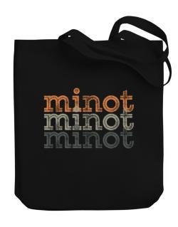 Minot repeat retro Canvas Tote Bag