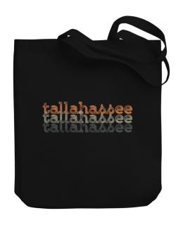 Tallahassee repeat retro Canvas Tote Bag