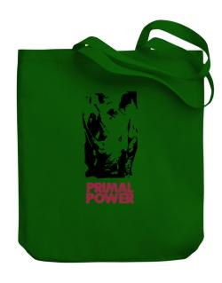 Primal Power - Rhino Canvas Tote Bag