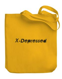 X-depressed Canvas Tote Bag