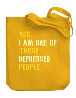 """ Those depressed people "" Canvas Tote Bag"