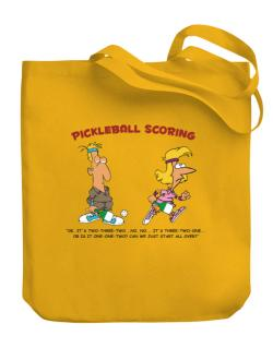 Pickleball Scoring Canvas Tote Bag