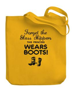 Forget the glass slippers, this princess wears boots! Canvas Tote Bag