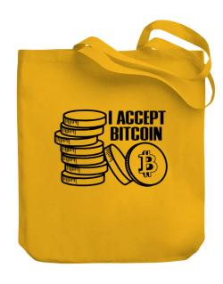 I accept Bitcoin Canvas Tote Bag