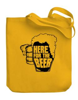 Here For The Beer Canvas Tote Bag