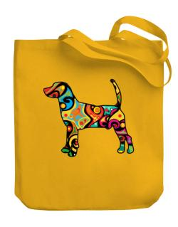 Psychedelic North Country Beagle Canvas Tote Bag