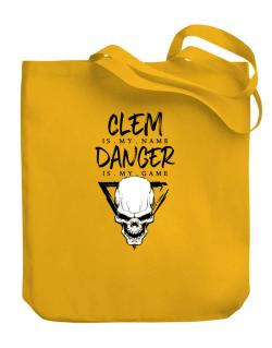 Clem is my name danger is my game 2 Canvas Tote Bag