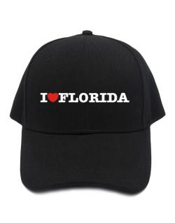 I Love Florida Baseball Cap