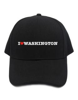 I Love Washington Baseball Cap