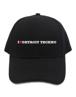 Gorra de I Love Detroit Techno