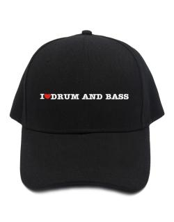I Love Drum And Bass Baseball Cap