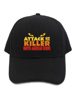 Attack Of The Killer North American Bisons Baseball Cap