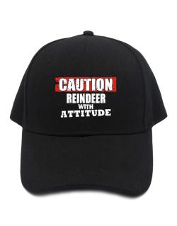 Caution - Reindeer With Attitude Baseball Cap