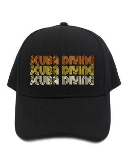 Scuba Diving Retro Color Baseball Cap