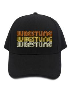 Wrestling Retro Color Baseball Cap