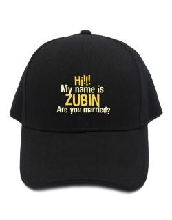 Hi My Name Is Zubin Are You Married? Baseball Cap