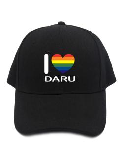I Love Daru - Rainbow Heart Baseball Cap