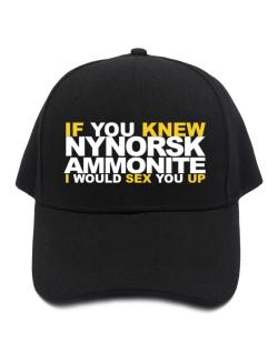 If You Knew Ammonite I Would Sex You Up Baseball Cap