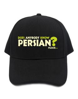 Does Anybody Know Persian? Please... Baseball Cap