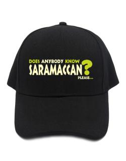 Does Anybody Know Saramaccan? Please... Baseball Cap