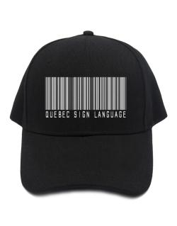 Quebec Sign Language Barcode Baseball Cap