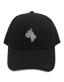 """ Schnauzer FACE SPECIAL GRAPHIC "" Baseball Cap"