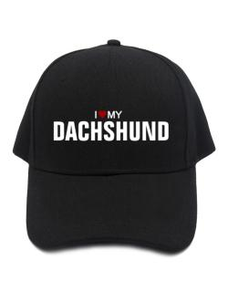 I Love My Dachshund Baseball Cap