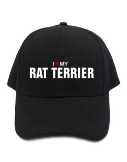 I Love My Rat Terrier Baseball Cap