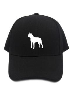 Boston Terrier Silhouette Embroidery Baseball Cap