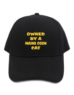 Owned By S Maine Coon Baseball Cap