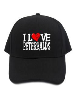 I Love Peterbalds - Scratched Heart Baseball Cap