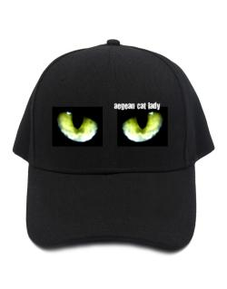 Aegean Cat Lady Baseball Cap