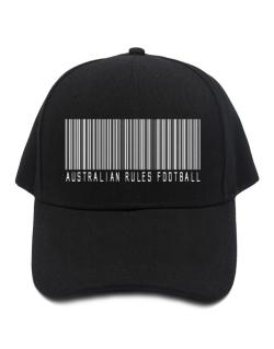 Australian Rules Football Barcode / Bar Code Baseball Cap