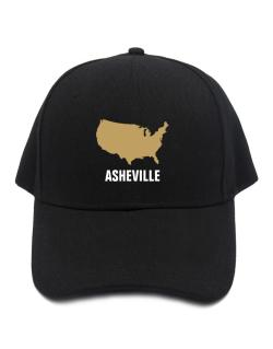 Asheville - Usa Map Baseball Cap