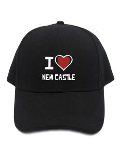 I Love New Castle Baseball Cap
