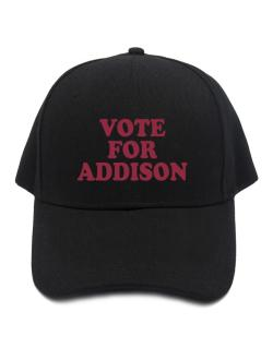 Vote For Addison Baseball Cap