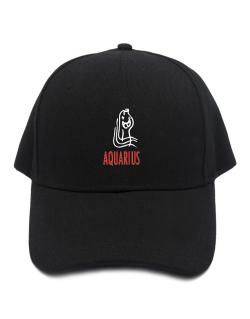 Aquarius - Cartoon Baseball Cap