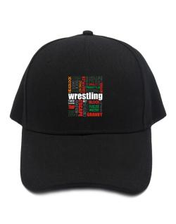 Wrestling Words Baseball Cap