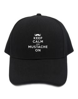 Mustache on Baseball Cap