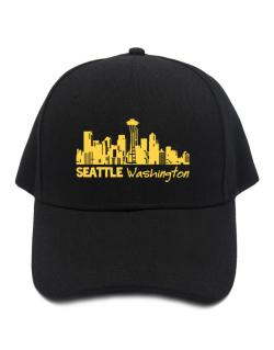 Seattle, Washington skyline Baseball Cap