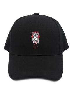 Llama with headphones Baseball Cap