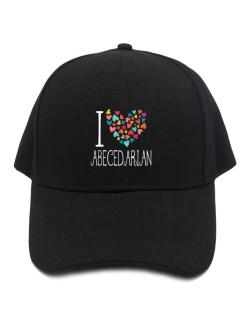 I love Abecedarian colorful hearts Baseball Cap