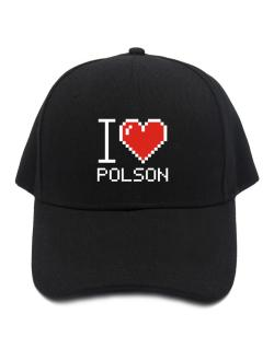 I love Polson pixelated Baseball Cap