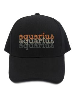 Aquarius repeat retro Baseball Cap