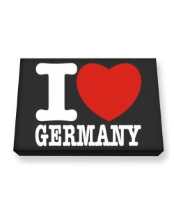 I Love Germany Canvas square