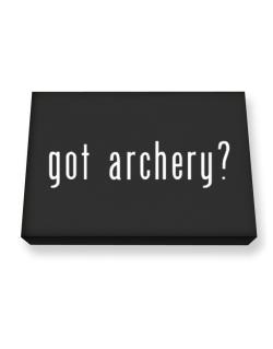 Got Archery? Canvas square