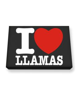 I Love Llamas Canvas square