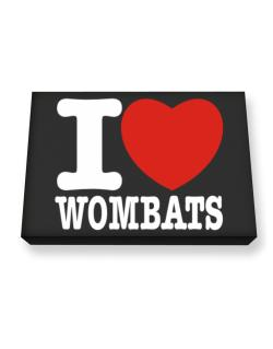 I Love Wombats Canvas square