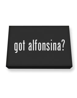 Got Alfonsina? Canvas square