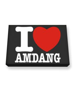 I Love Amdang Canvas square